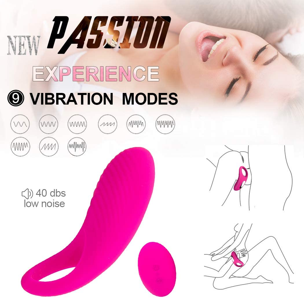 Great Longer Lasting Vibrat-ing Pên?s R?ng with Massager Brush Silicone Toys Pên?s R?ngs Vîb-Rát-Or 10 Speeds USB Charged