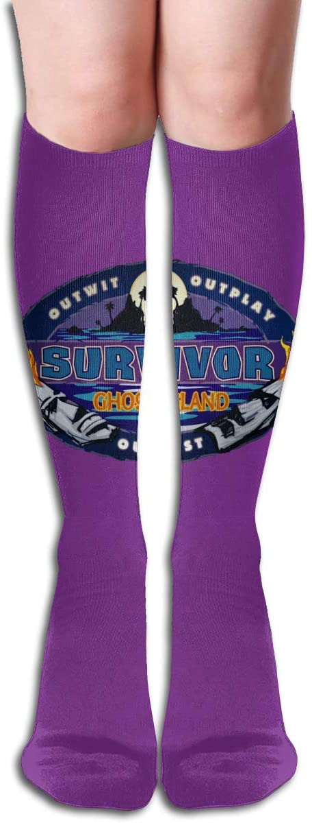 Su_Rvivor CBS Tv Te_Levision Show Womens & Men Socks Knee High Long Socks