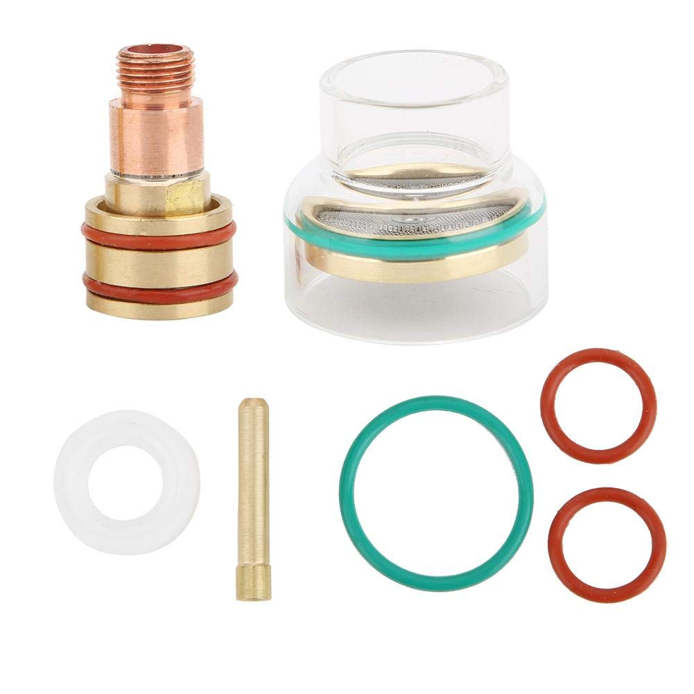 TIG Welding Kit, 1.6mm, 2.4mm, 3.2mm TIG Welding Torch Glass Cup Collet for WP17,WP18, WP26(3.2mm)
