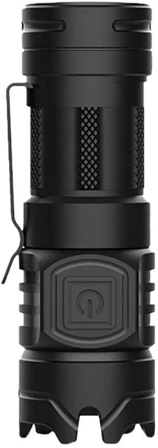 BOLUOYI Lighting Flashlight LED Aluminum Alloy Flashlight Portable Multifunctional Lighting Flashlight (Black)