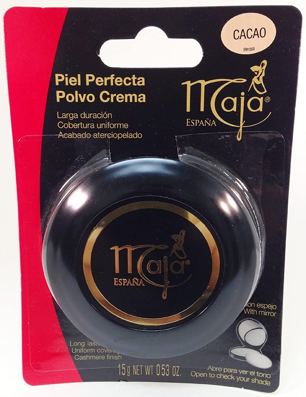 Maja Cream Powder Cacao .53 Oz. With Mirror-Polvo Crema Compacto Con Espejo