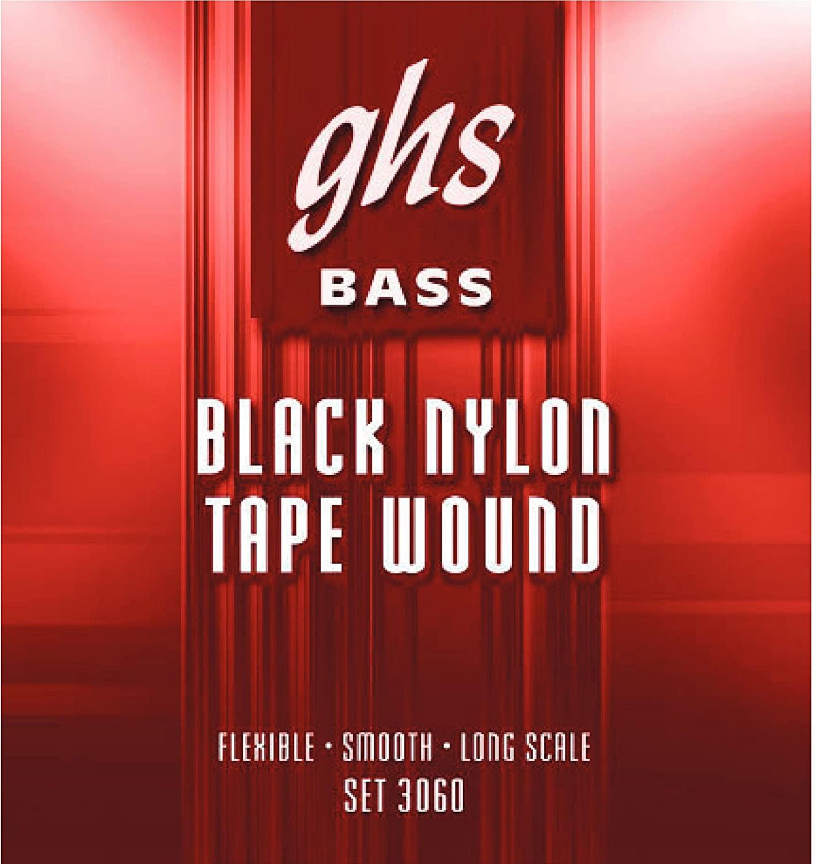 GHS GHS-3060-5 Black Tape Wound Bass 5 String Set