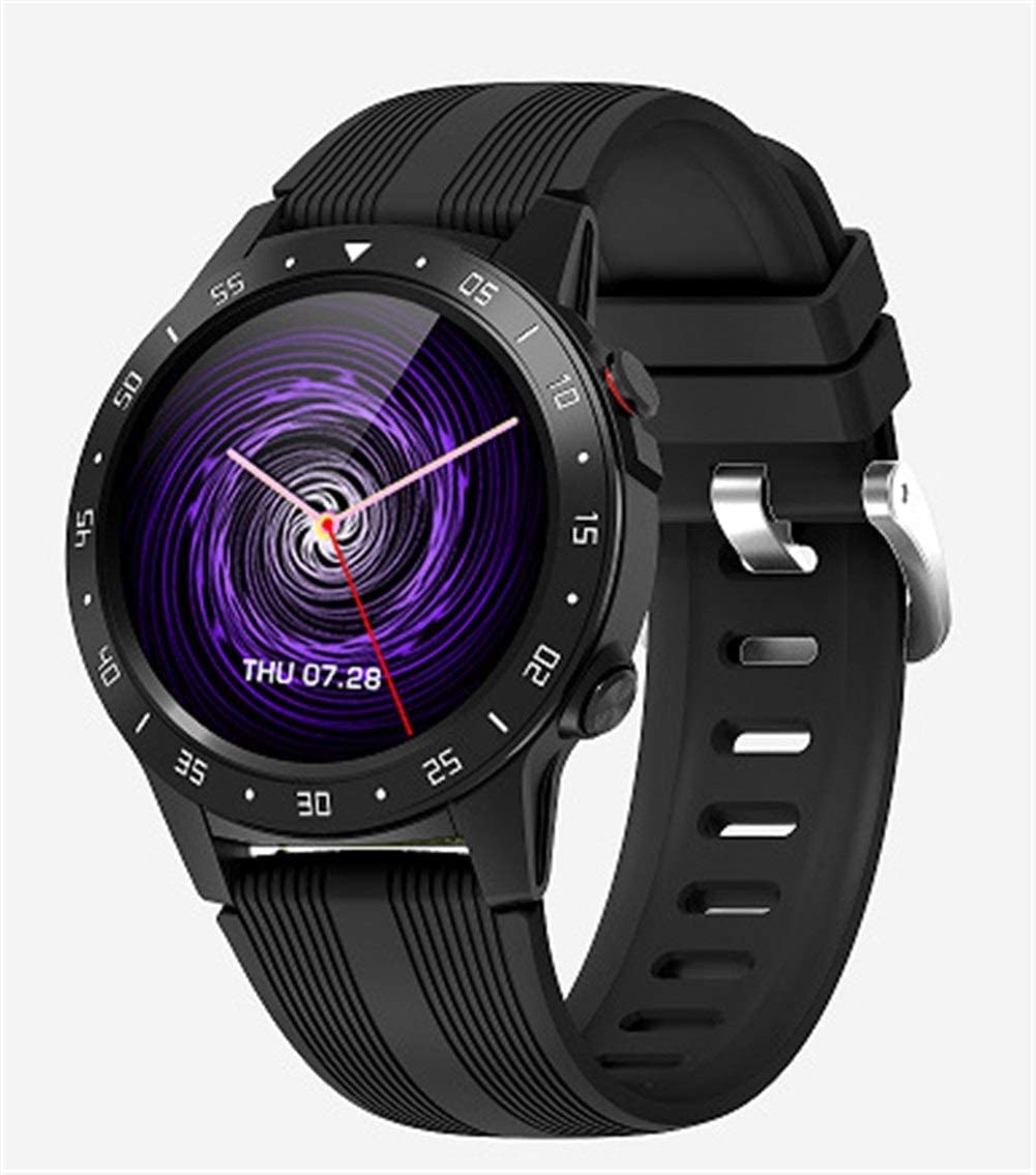 Logo ZWSSZZXY GPS Smartwatch Barometer Altimeter Compass Bluetooth Call Waterproof Smart Watch Fitness Tracker iOS Android Watch (Color : Black)