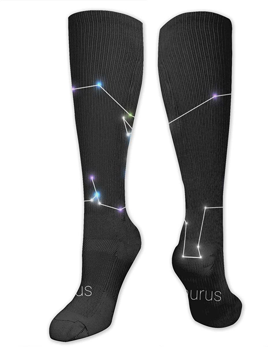 Constellation Taurus Athletic Socks Thigh Stockings Over Knee Leg High Socks
