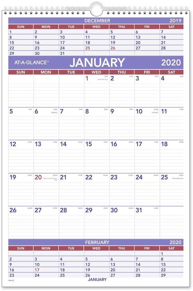 AT-A-GLANCE 2020 Wall Calendar, 15-1/2