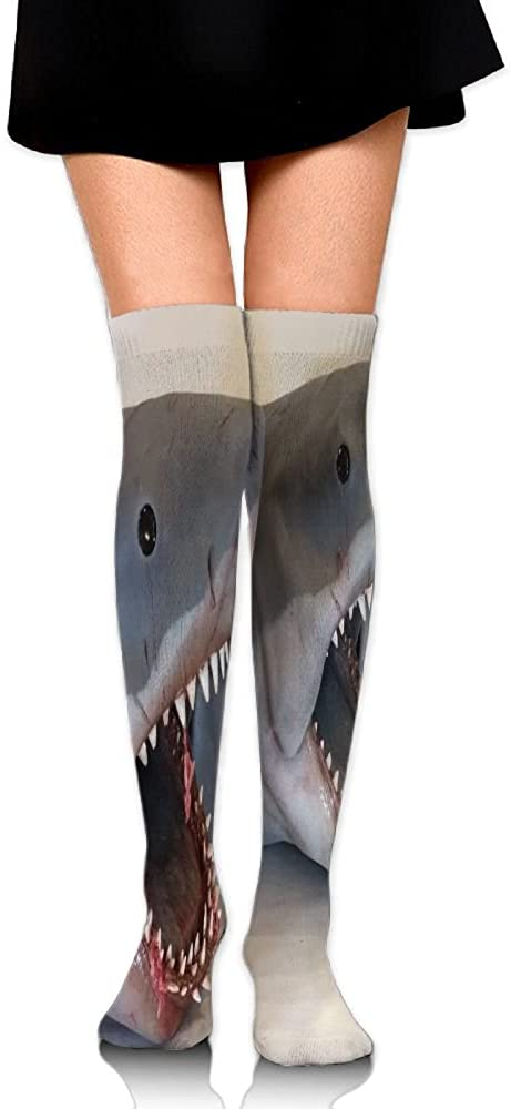 Yongchuang Feng Unisex Tube Stockings Shark Bite Over The Knee Unisex Knee High Long Socks Length 65cm