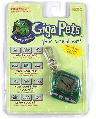 Giga Pets - Floppy Frog - 1997 Original Tiger Electronic Virtual Pet LCD Game