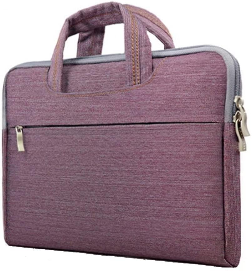 Laptop Bag Notebook Case Briefcase Tote Unisex Lightweight Ultra-thin Purple 15 Inch