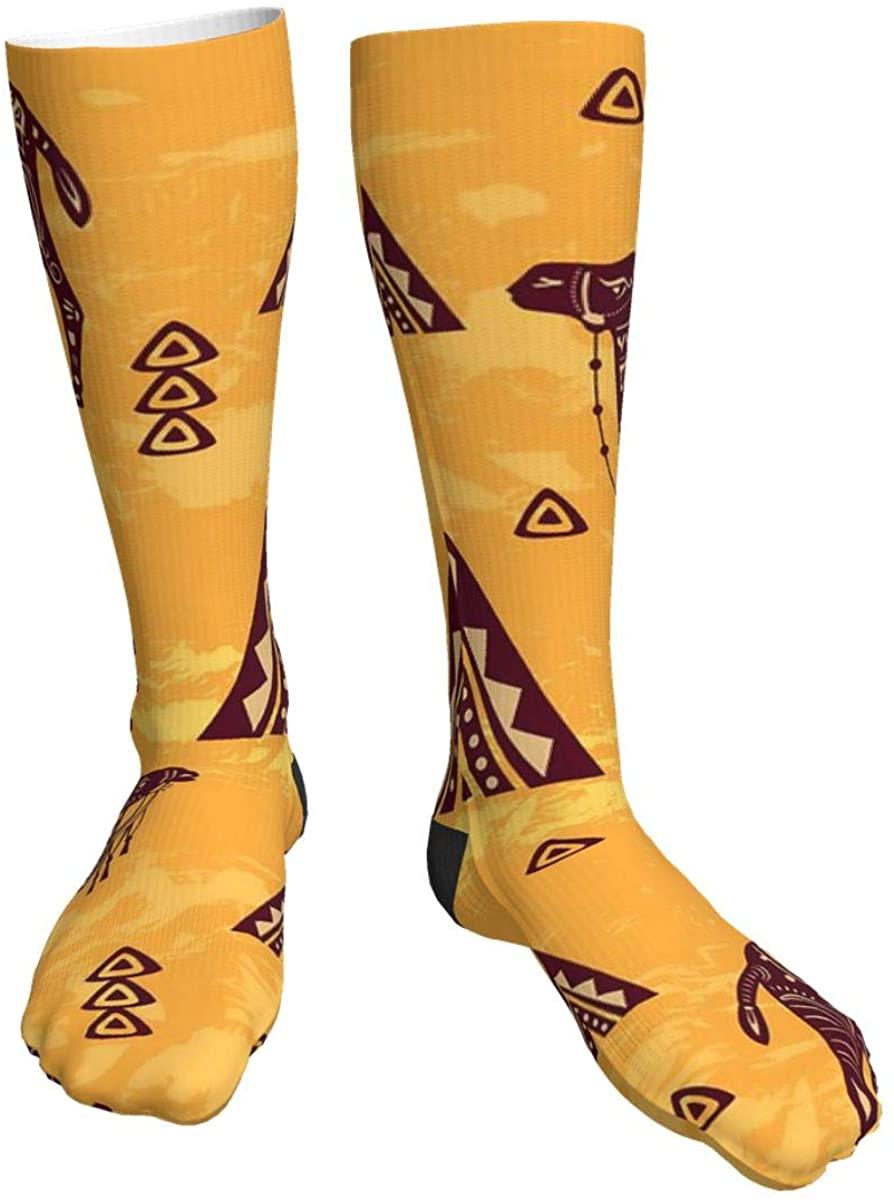 Desert Camel Men Women Classics Thick Socks Personalized Athletic Socks -All Season(One Size)