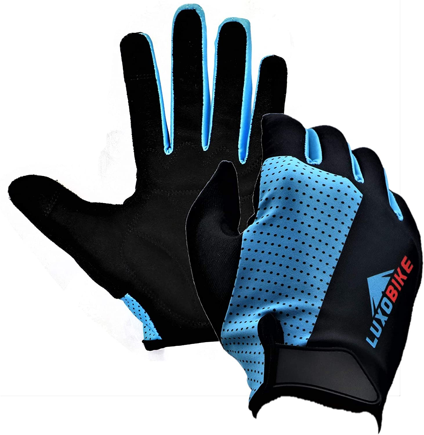 LuxoBike MTB Gloves Mountain Bike Gloves for Men Biking Gloves Women – Cycling Gloves with Antiskid Shock Absorbing Pad – Breathable Snug Fit – Touch Screen Road Bicycle BMX Dirt Bike