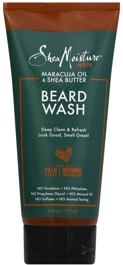 SheaMoisture Maracuja Oil & Shea Butter for a Full Beard Wash to Deep Clean 6 oz