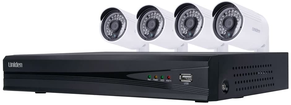 Uniden UNVR85x4 1080p HD NVR Video Security System 8 Channel x 4 Camera 2TB HDD Night Vision - White