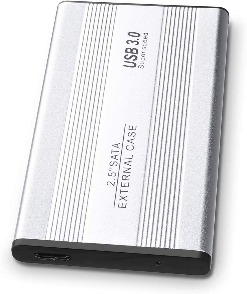 External Hard Drive, Ultra Slim Hard Drive USB 3.0Portable Hard Drive External Storage for PC, Laptop, Xbox one, Mac (2TB, Silver)