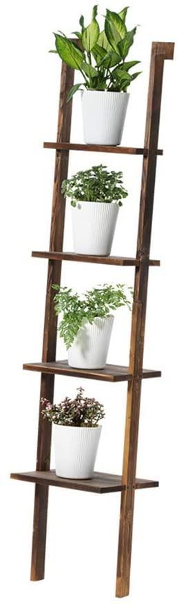PLLP Corner Shelves,Flower Racks Multi-Purpose Multi-Layer Solid Wood Flower Pots Ladder Rack Shelving Indoor Living Room for Indoor and Outdoor