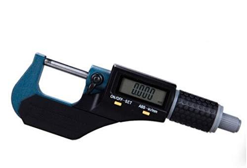 MeterTo Digital Outside Micrometer,0-25mm, 0.001mm, L1: 7mm, L: 31.5mm, H: 23.5mm