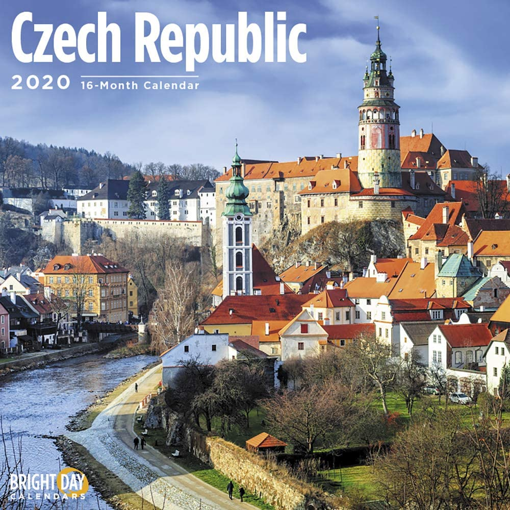 2020 Czech Republic Wall Calendar by Bright Day, 16 Month 12 x 12 Inch, European Travel Destination
