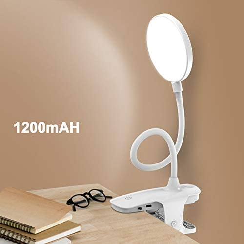 Zcm Desk Lamp LED Table Lamp Touch On/Off Switch 3 Modes Clip Desk Lamp Eye Protection Desk Light Dimmer Rechargeable USB Led Table Lamp (Body Color : USB Rechargeable B)