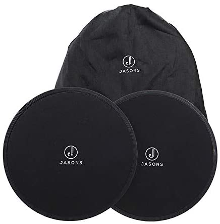 Jasons Core Ab Slider Discs for Fitness Workouts and Balance