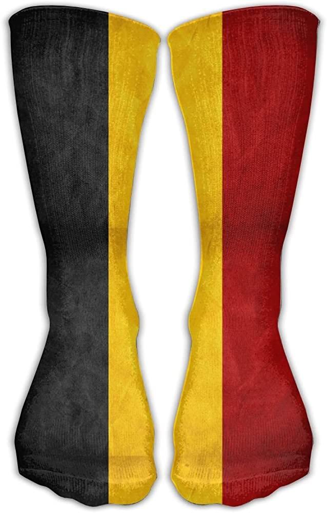TO-JP Belgium Retro Flag Crew Socks Short Sports Socks