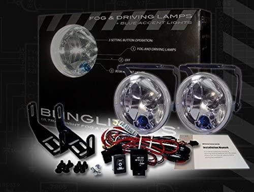 BlingLights BL300w 3.5 Round Xenon Halogen Fog Lamps Driving Lights Kit
