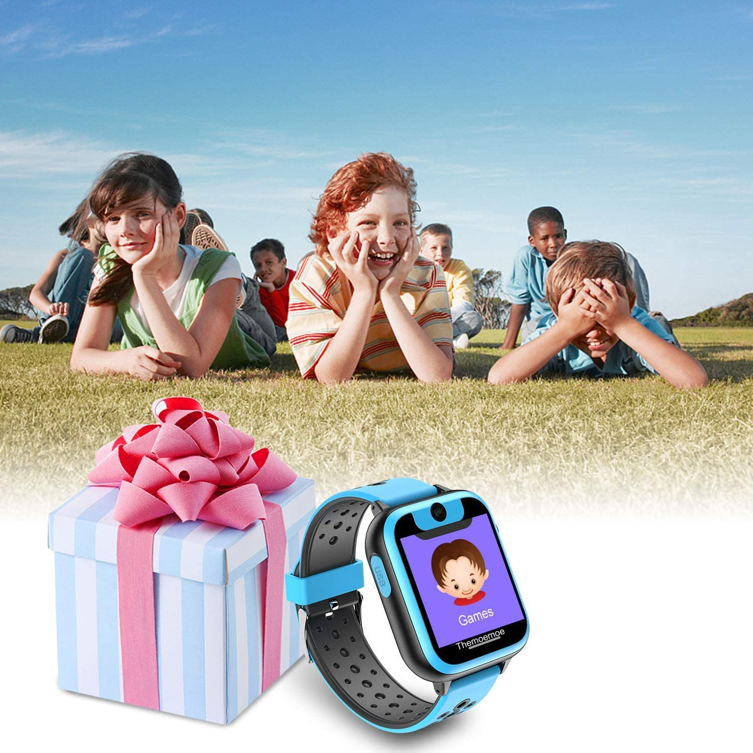 RCTOYS Game Watch for Kids, Smart Watch for Kids, Kids Smartwatch, Smart Watch with Camera, for Girls Boy, 1.44 inch Touch Screen Games Smartswatch with Calls Digital Camera
