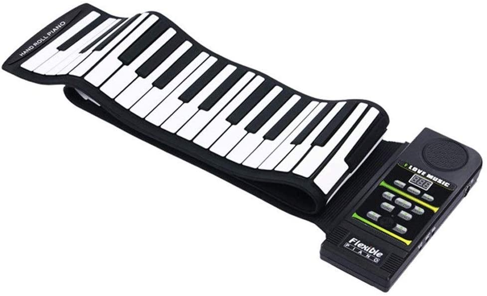 CHENXIU Hand Roll Piano Small and Lightweight Thick Folding Portable 88 Key Hand Rolled Piano for Kids Easy to Carry