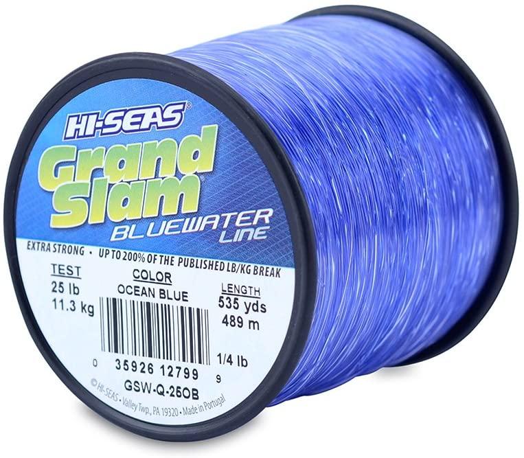 HI-SEAS Mens Grand Slam Bluewater Line 25 lb (11.3 kg) Test .020 in (0.50 mm) Diam, Ocean Blue, 535 yd (489 m)