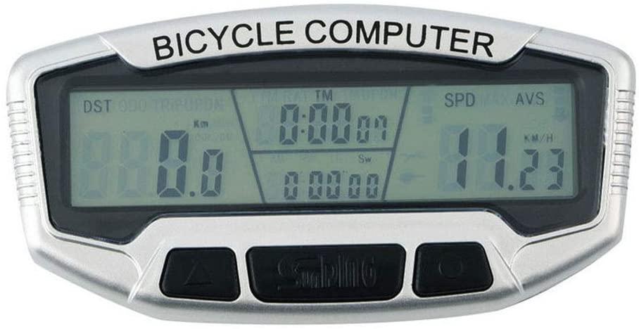 JPONLINE Bicycle Accessories Bike Flashlight Bicycle Cycle Computer Bike Speedo Odometer Speedometer+Backlight Description: