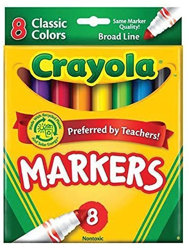 Crayola Classic Markers, Broad Line 8 ea (Pack of 24)