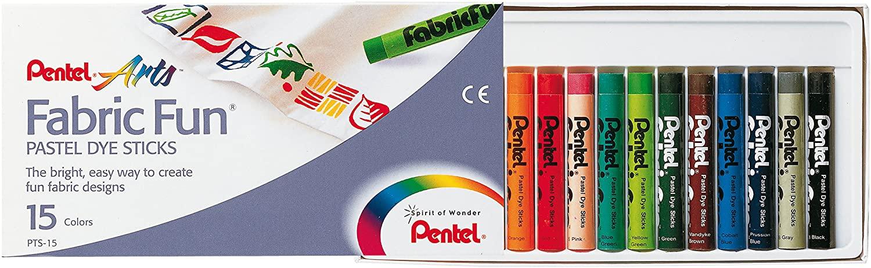 MotivationUSA Fabric Pastel Dye Sticks, Assorted, 15/Set