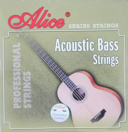 Alice Hexagonal Core Coated Copper Alloy Wound 1st-4th Acoustic Bass Strings (.040 .060 .075 .090) Inch