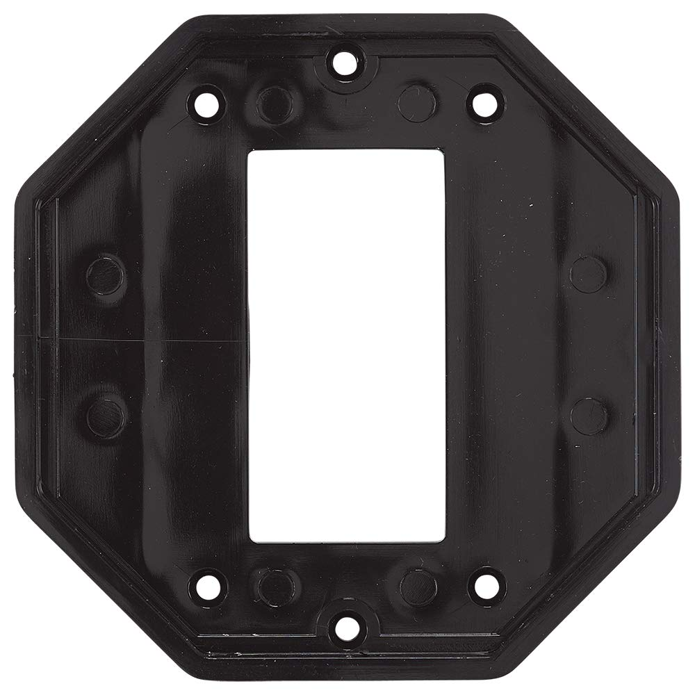 Intermatic Wp102 Specialty Wall Plate, Double Gang Gfci Insert for Die Cast and Jumbo Cover - Black