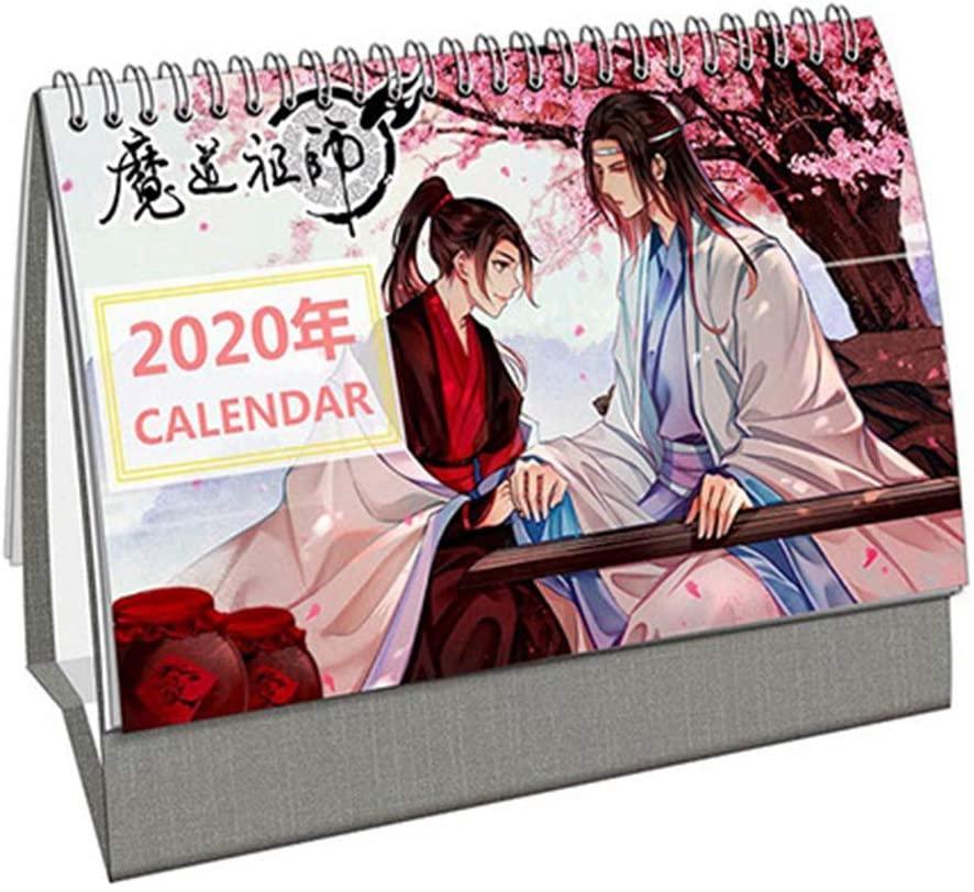 Heyu-Lotus Anime Demon Slayer Kimetsu no Yaiba 2020 Desk Calendar Cute Cartoon Desktop Calendar Hot Gift for Anime Fans(Mo Dao Zu Shi)