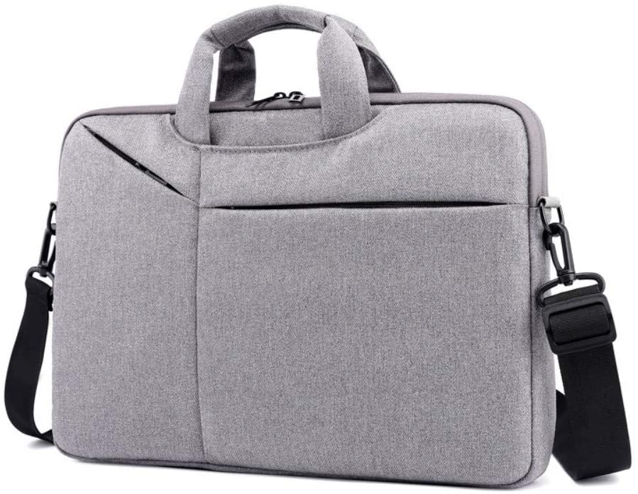 Hand-Held Notebook Computer Bag Light Briefcase Business Large Capacity Handbag Ultra-Thin Computer Bag,Gray