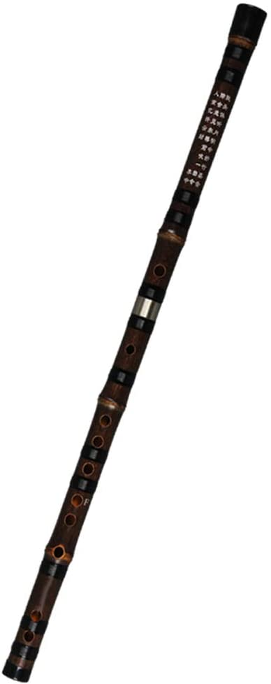Guanso Dizi Bamboo Flute Professional Level Handmade Craftsmanship Collection Traditional Wind Instrument for Performance Precision Timbre Black A Key