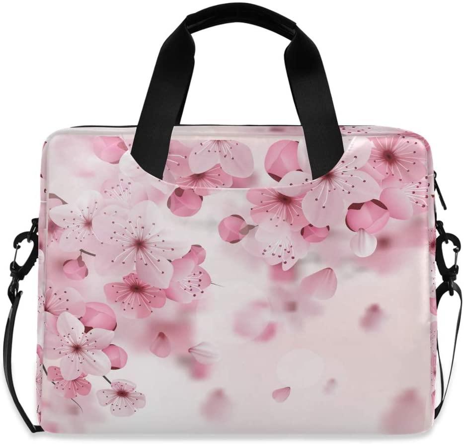 Laptop Bag Briefcase Shoulder Bag - Pink Cherry Print 15.6 Inch Tote Bag Laptop Messenger Shoulder Bag Laptop Sleeve, Great to Work, Travel