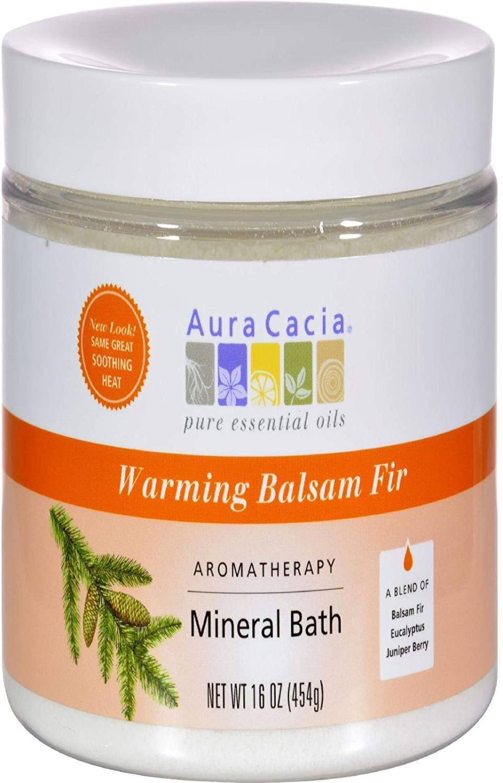 Aura Cacia Aromatherapy Mineral Bath Warming Balsam Fir - 16 oz