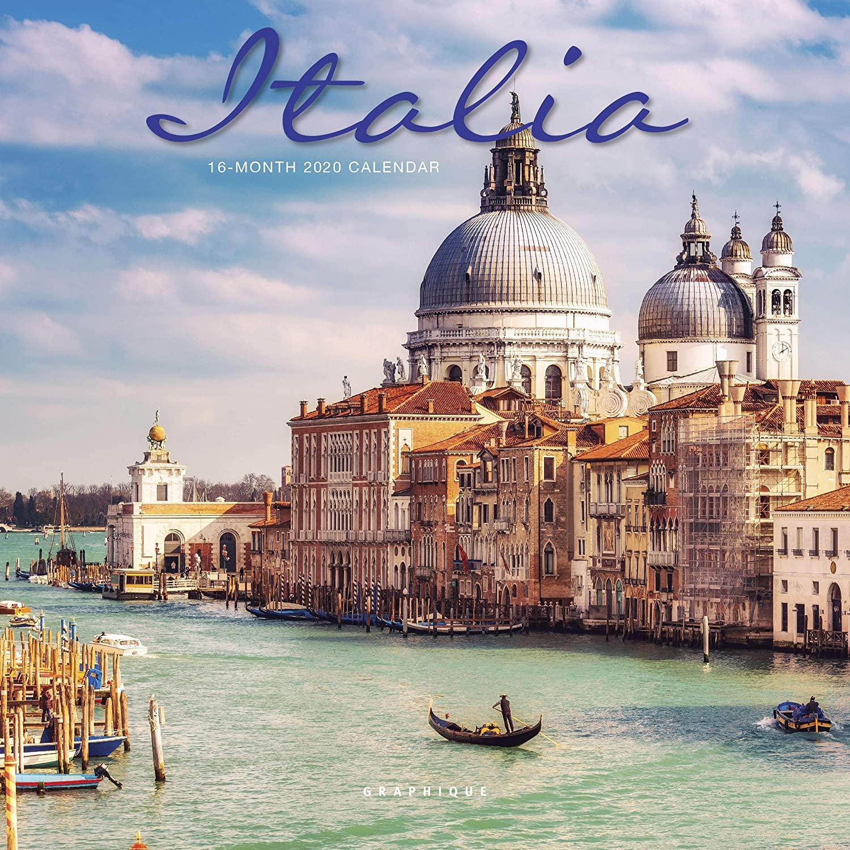 Graphique Italia Mini Wall Calendar, 16-Month 2020 Wall Calendar with Historic Italian Landmark Photographs, 3 Languages & Major Holidays, 2020 Calendar, 7