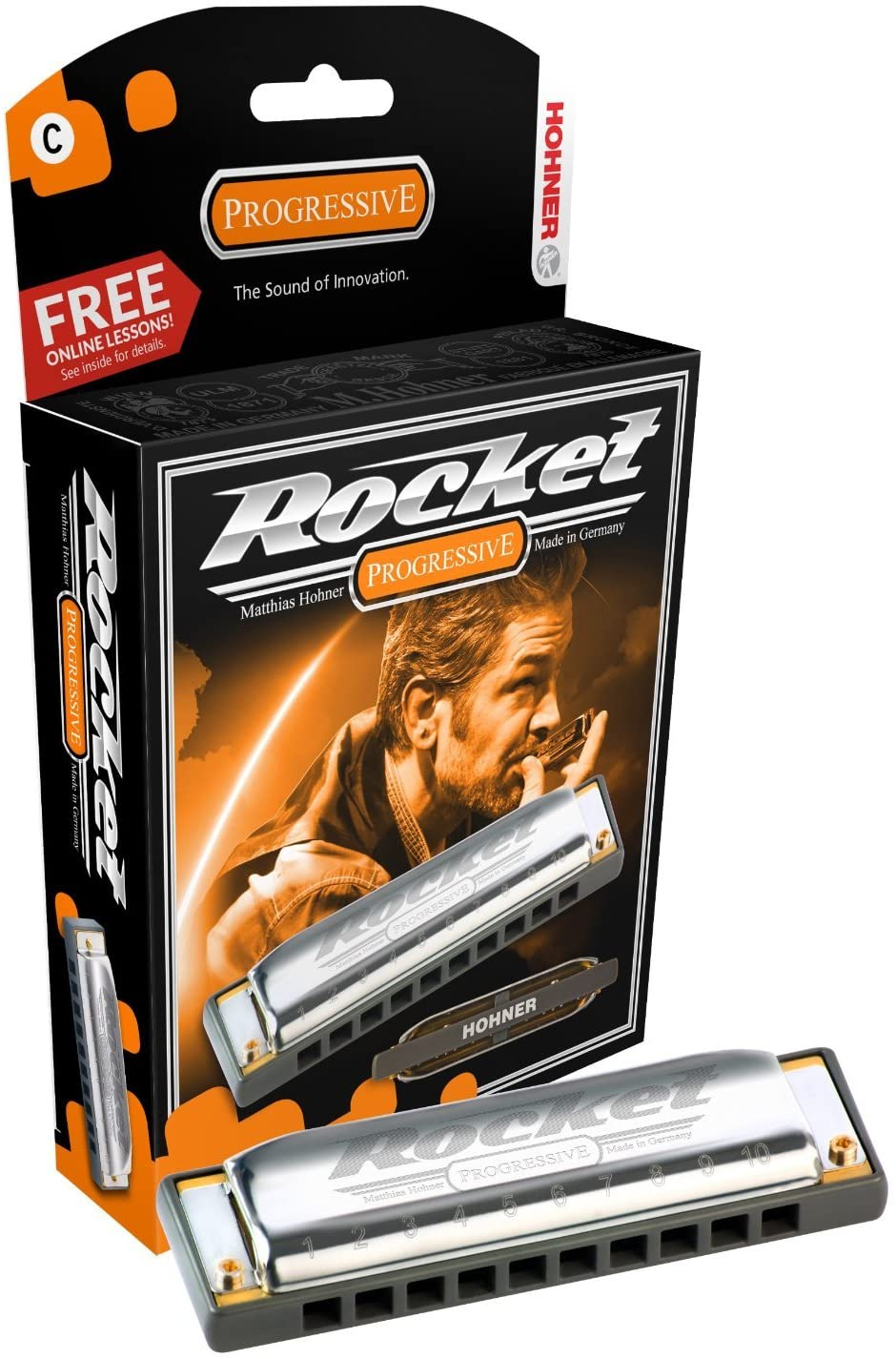 ARMONICA BLUES - Hohner (2013/20C) Rocket (Nota Do) (20 Voces) Progressive Series