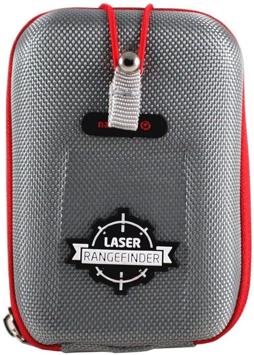 Navitech Grey EVA Rangefinder Hard Case/Cover with Carabiner Clip Compatible with The TecTecTec ULT-X Golf Rangefinder