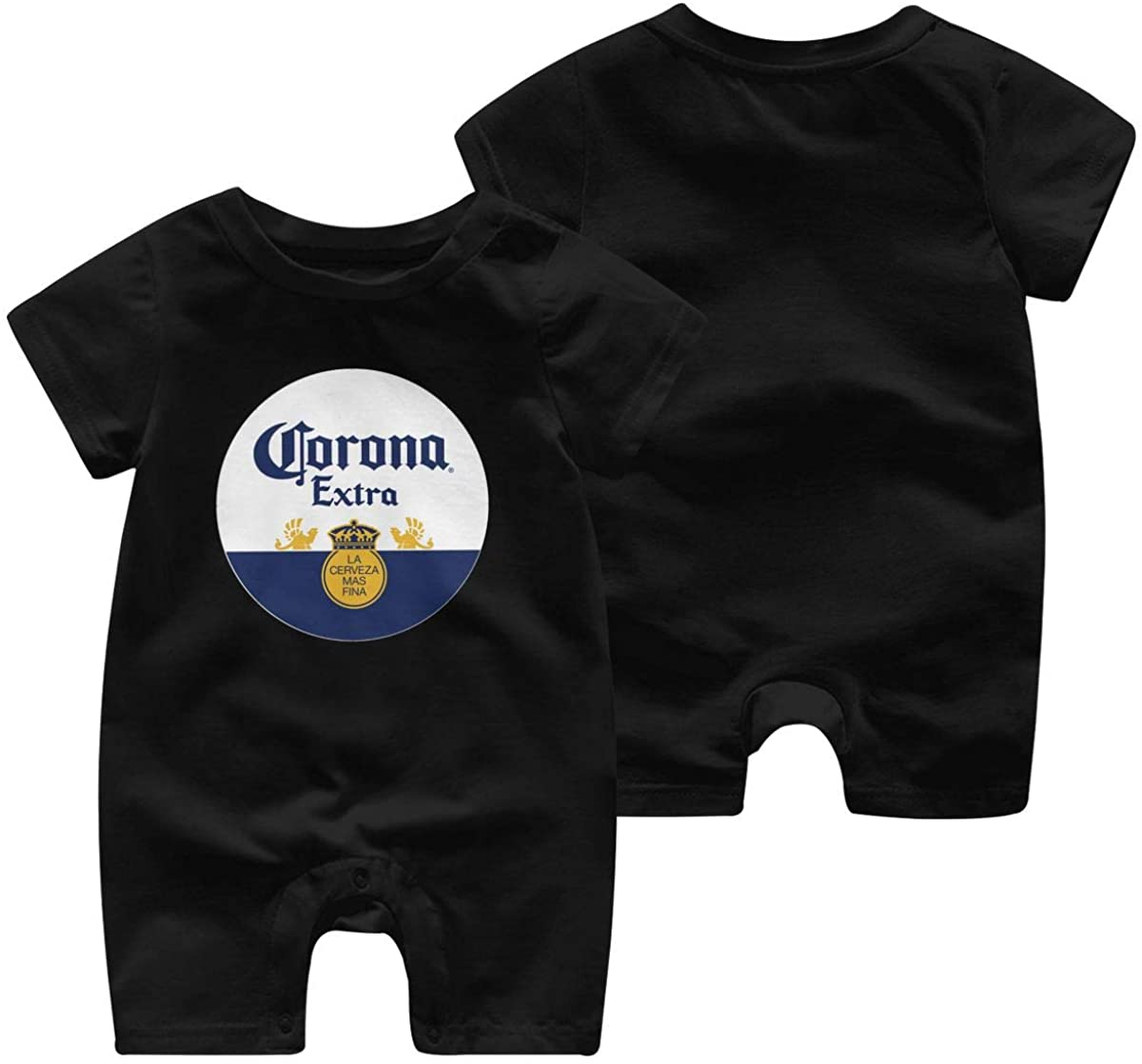 Baby Corona Beer Logo Graphic One-Piece Organic Cotton Cute Infant Short Sleeve Romper