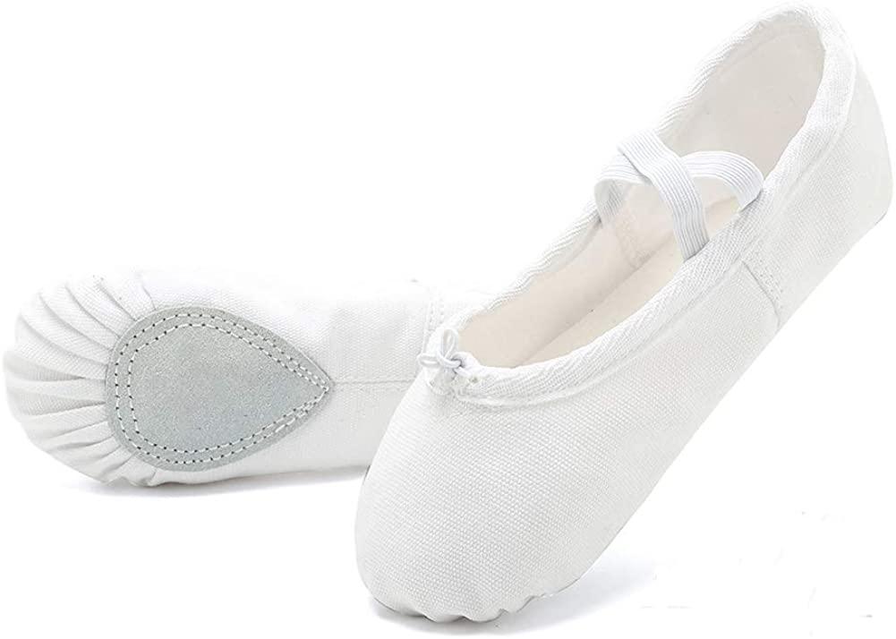 Girls Ballet Shoes Women Dance Shoes Canvas Ballet Slippers Yoga Shoes (Toddler/Little Kid/Big Kid/Women/Boy)