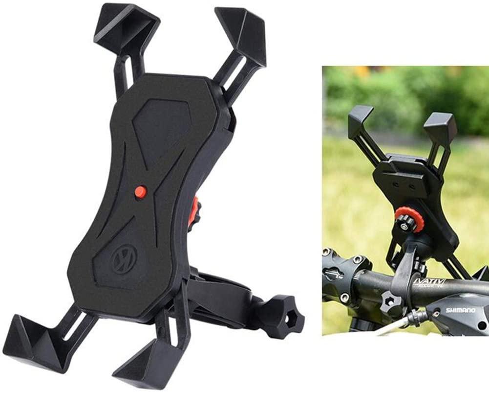 MUMA Bike Motorbike Phone Mount Stand, 360° Rotatable Universal Adjustable Non-Slip Bicycle Phone Holder, for 3.5-6.5 Inch Smartphones