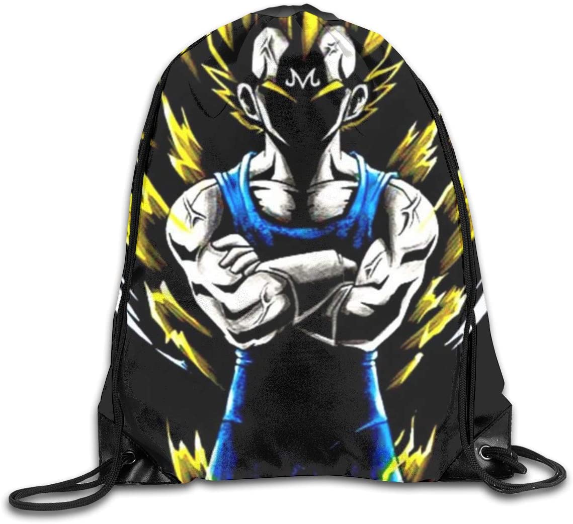 Dragon Ball Z Drawstring Backpack Beam Mouth Sport Bag Rucksack Shoulder Bags for Men & Women