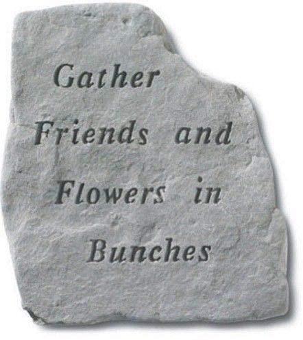 Gather Friends And Flowers Decorative Garden Stone