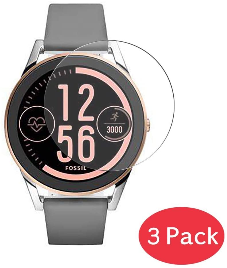 [3 Pack] Synvy Tempered Glass Screen Protector for Fossil Q Control 9H Protective Screen Film Protectors Smartwatch Smart Watch