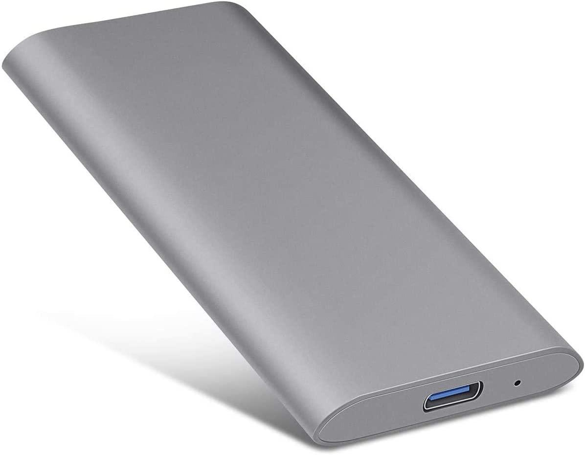 1TB 2TB External Hard Drive, Rugged Hard Drive External Portable Slim Hard Drive Compatible with PC, Laptop and Mac (2TB, Grey)