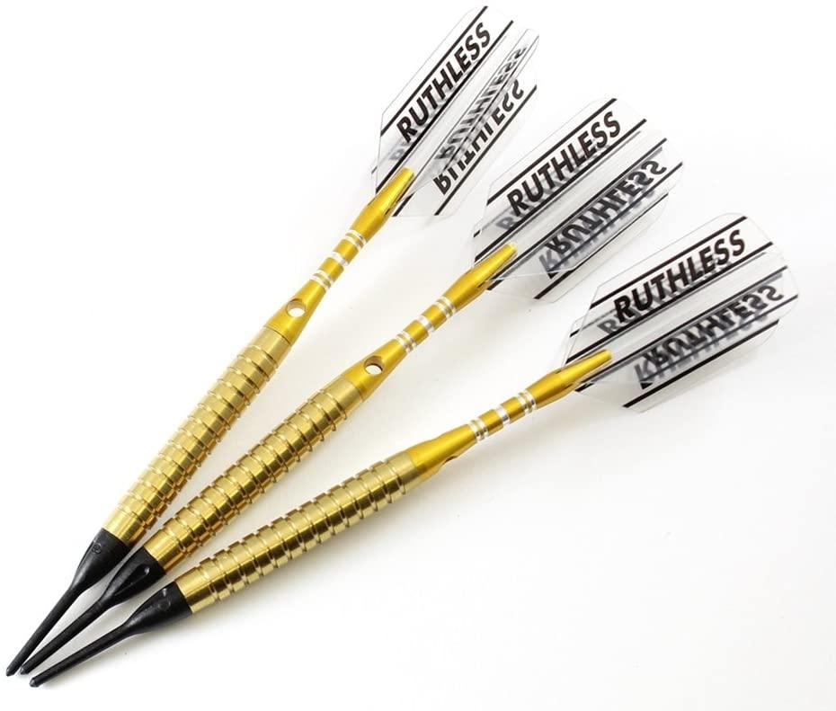 'P4' Golden Soft Tip Darts Style 1-18 Grams, 90% Tungsten, Soft Tip Darts