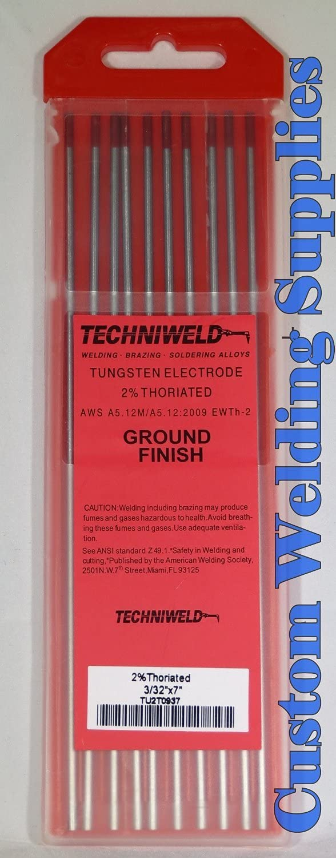 Techniweld Tungsten Electrode 2% Thoriated 3/32