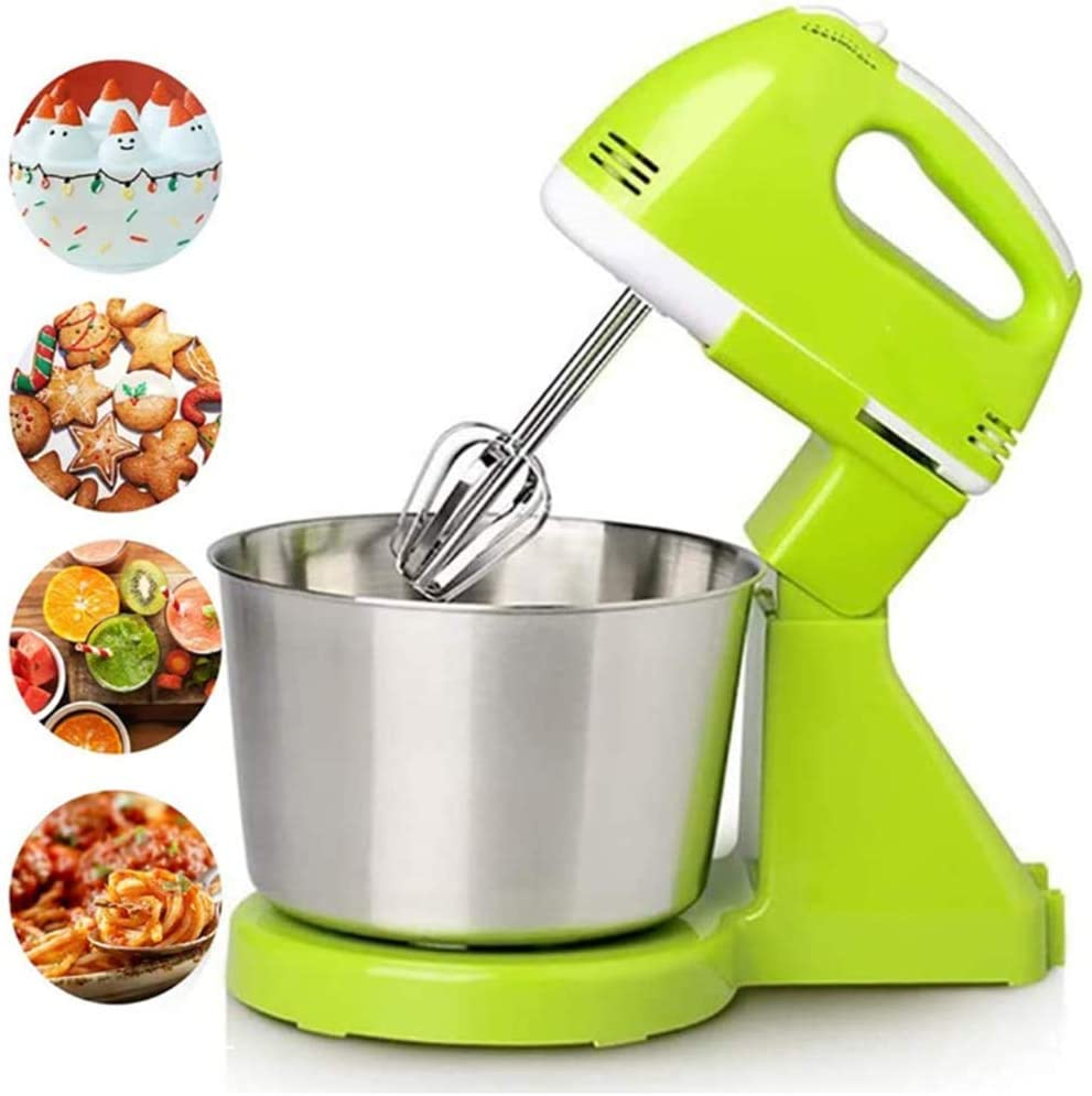LEILEI Hand Mixer Electric,200W Ultra Power Kitchen Mixers 7 Speed Electric Mixer Stainless Steel 220V Kitchen Food Stand Mixer Cream Egg Whisk Blender Cake Dough Mixer